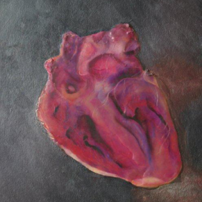 A New Heart - mixed media on canvas R2500