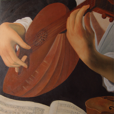 Receation of the Lute Player by Caravaggio – 350 cm X 350 cm