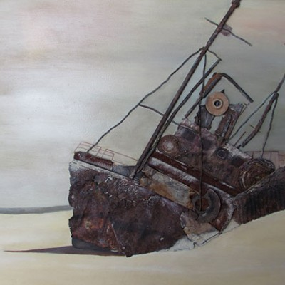 Abandoned Ashore (After Keith Alexander) - Original Oil and Rust - Size 400 x 600 - Sold