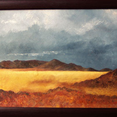 Gentle Mountains - Oil and mixed media on board - size 300 x 450 R1750.00