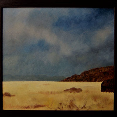 Namib Grasses - Oil and mixed media on board - size 420 x 450 R1975.00